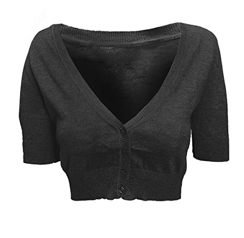 Ruched Sleeve Button Cropped Cardigan product image