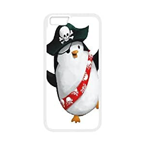 Penguin Case Cover For SamSung Galaxy S6 Elegant Design Cute Pirate Penguin, Case Cover For SamSung Galaxy S6 For Men [White]