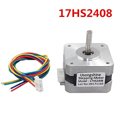 WillBest 1pc 17HS2408 4-Lead Nema 17 Stepper Motor 42 Motor 42BYGH 0.6A CE ROSH ISO CNC and 3D Printer by WillBest