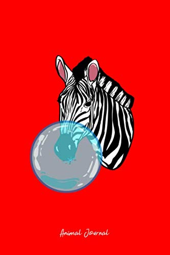 Animal Journal: Dot Grid Journal - Zebra Bubblegum Funny  Animal Chewing Gum Girls Gift - Red Dotted Diary, Planner, Gratitude, Writing, Travel, Goal, Bullet Notebook - 6x9 120 - Gum Dot Bubble