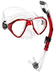 The Cancun mask is particularly suitable for scuba Diving and snorkeling, but just as appropriate for use in free Diving. It has dual tempered glass lenses, a double feathered Skirt edge that adapts to most faces and a small inner volume that...