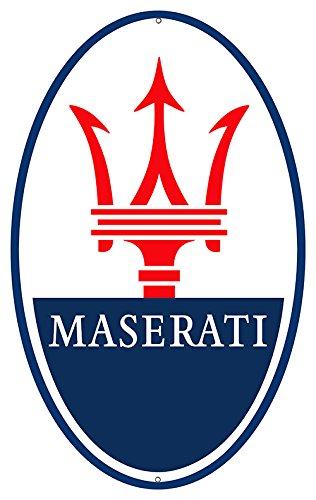 Victory Vintage Signs Maserati Automobile Sign 11X18 Oval Reproduction