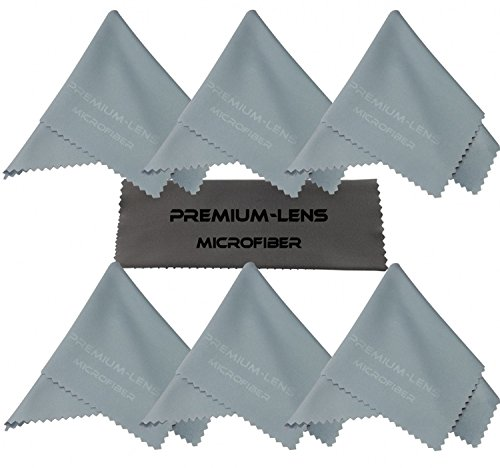 Premium-Lens® Microfiber Cleaning Cloth (7-Pack Sky Blue)- Superior Cleaning Cloths for Eyeglasses, Sunglasses, DSLR Camera Lenses, Binoculars, Telescopes, Smart Phones, Laptops, iPad Tablets, LCD TV's, Computer-Touch Screens and Much More