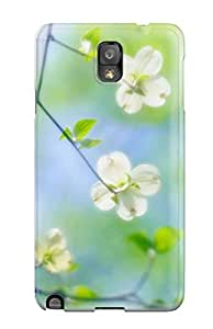 Hot Case Cover Skin For Galaxy Note 3 (white Dogwood Blossoms) 3147719K39329081