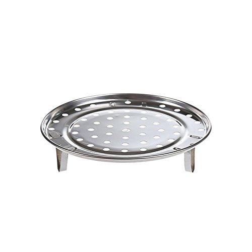LSGDSXMIY Pan pince à épiler en acier inoxydable étuve à la vapeur grille cuisine trois pieds cuit à la vapeur brioches à la vapeur brioches vapeur plat étagère à vapeur d'eau à la vapeur comprimés, 20cm
