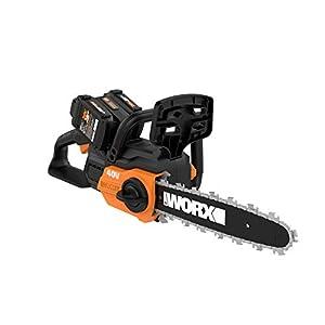 WORX WG381.9 12″ Cordless Power Share 40V w/Auto Tension Chain Saw, Black and Orange