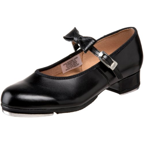 Bloch Dance Girl's Merry Jane Tap Shoe, Black, 1 N US (Toddler/Little Kid/Big Kid) (1 1 Plate Girl)