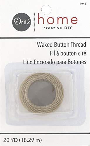 Dritz Home 9043 Waxed Button Thread, 20-Yards