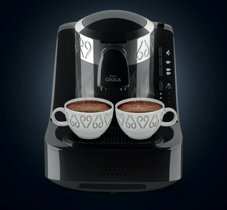 OKKA Turkish Coffee Machine (USA 120v) Chrome UL (Black-Chrome)