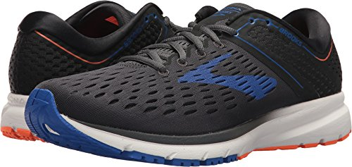 Brooks Men's Ravenna 9 Ebony/Blue/Orange 7 EE US
