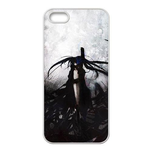 X4S74 black rock shooter S9S9DI coque iPhone 4 4s cellulaire cas de téléphone couvercle coque blanche SE5WYA9JX
