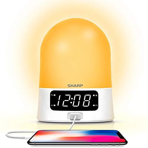 Sharp Sunrise Alarm Clock - Color Changing Mood Light - USB