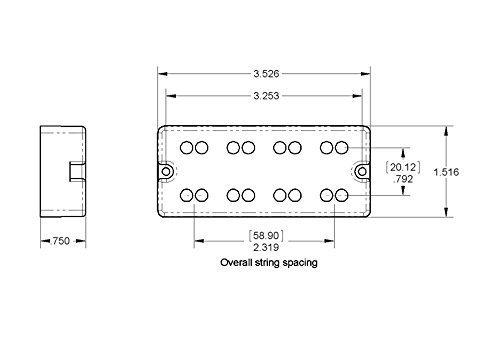 Seymour Duncan Basslines SSB-5NYC Phase II NYC Passive Soapbar 5 String Bass pickup set