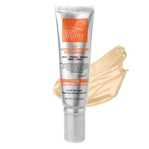 "Suntegrity - ""5 in 1"" Natural Moisturizing Face Sunscreen - Tinted - LIGHT"