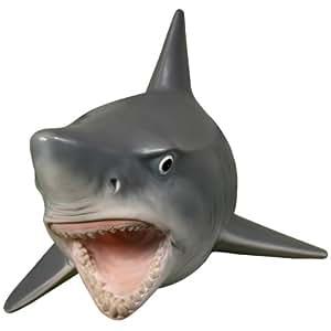 Wall Mounted Great White Shark W Teeth Head Mount Hanging Display Plaque Decor