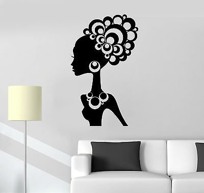 Vinyl Decal Hot Sexy Girl Black African Lady Cool Decor Wall Stickers - Womens Black Name