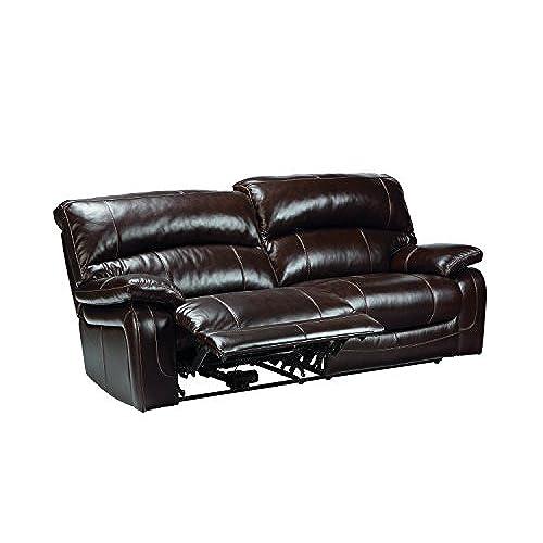 Attrayant Ashley Furniture Signature Design   Damacio Recliner Sofa   Power Reclining    Dark Brown