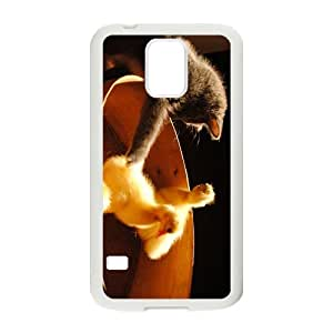 Cat'S Playing Time Hight Quality Plastic Case for Samsung Galaxy S5