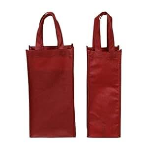 10 paquetes rojo oscuro papel bolsas de botella de vino ...