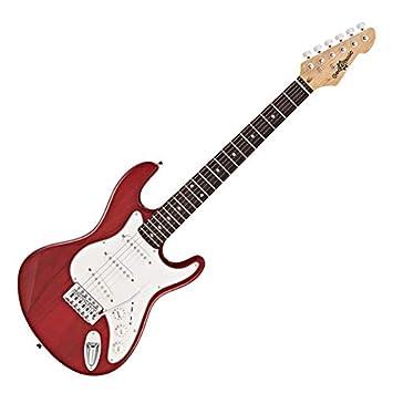 Guitarra Eléctrica LA 3/4 de Gear4music - Granate: Amazon.es: Instrumentos musicales