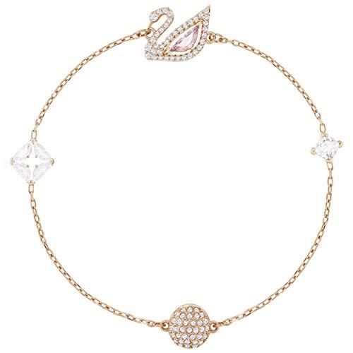 Swarovski Dazzling SWAN Bracelet, Multi-Colored, Rose Gold Plating, 5472271 (Rose Bracelet Multi Colored)