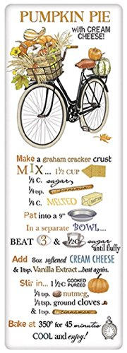 Mary Lake Thompson Flour Sack Towel - Fall Bike, PUMPKIN PIE Recipe -