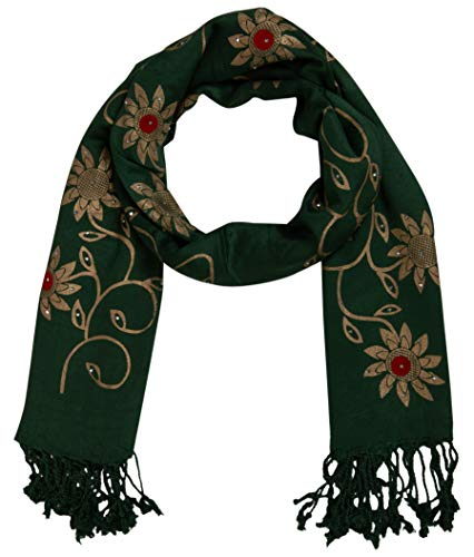 2b5fce8c8b6e0 PSS Premium Quality Handcrafted Green Color Unique Print Design - Stole and  scarf for women Scarf Soft Cotton Trendy Scarves Stoles Party Scarf for  Women ...