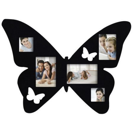 Black Wood Wall Collage Picture Frame (Black (Butterfly Collage)