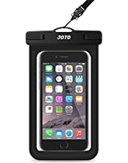 """JOTO Universal Waterproof Pouch Cellphone Dry Bag Case for iPhone 13 Pro Max Mini, 12 11 Pro Max Xs Max XR X 8 7 6S Plus SE, Galaxy S20 S20+ S10 Plus S10e /Note 10+ 9, Pixel 4 XL up to 7"""" -Black"""