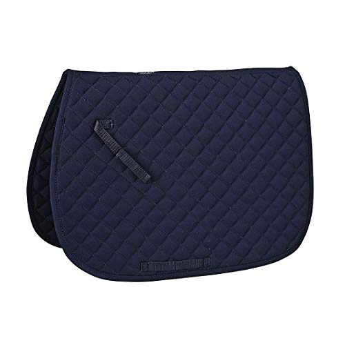 Saddlery Pads - Rider's International by Dover Saddlery Quilted Pad - Navy, A/P