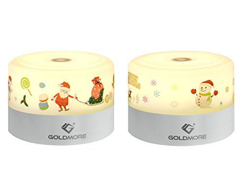 goldmore Bedside Lamp - Touch Lamp - Night Lights for Kids - Baby Night Light - Nursery Night Light Baby Eye-Caring Sleep Led Lamp 2 Pack Warm White by