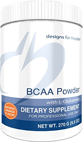 Designs for Health BCAA Powder 2000mg L Glutamine Amino Acid Energy + L Valine + L Isoleucine + L Leucine, 270 Grams