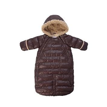 7AM Enfant Doudoune One Piece Infant Snowsuit Bunting, Orange Peel, Medium 7 A.M. ENFANT DD100M-OP