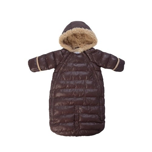 7AM Enfant Doudoune One Piece Infant Snowsuit Bunting, Marron Glace, Small