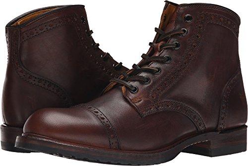 FRYE Men's Logan Brogue Cap Toe Boot, Cognac Vintage Pull Up, 11 M US (Logan Frye Boots)