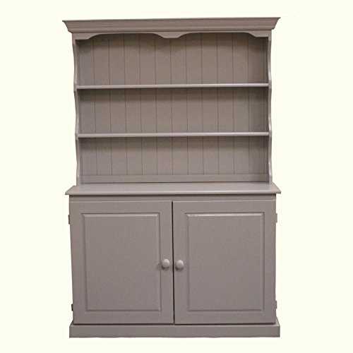 Wye Pine Welsh Painted Cupboard Dresser - Distressed - Colour: Grey