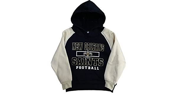 c5868f8d2 Amazon.com  Outerstuff New Orleans Saints Infants Toddler Black Football  Fleece Pullover Hoodie (2T)  Clothing