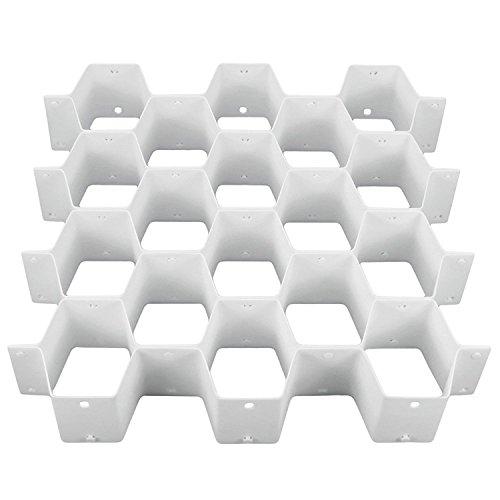 HANGERWORLD Honeycomb 32 Compartment Belt Tie Socks Underwear Storage Divider Drawer Organizer