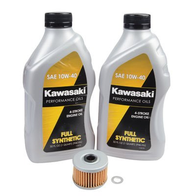 Tusk 4-Stroke Oil Change Kit Kawasaki Full Synthetic 10W-40 - Fits: Kawasaki KFX 450R 2008-2014