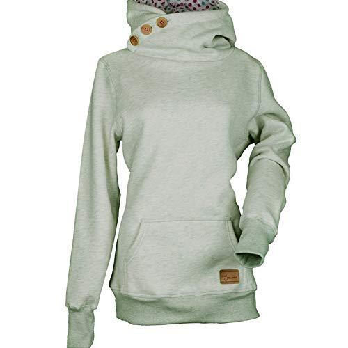 Women's Hoodies, FORUU Casual Sweatshirt Pure Color Pocket Button Pullover Sweatshirt Blouse