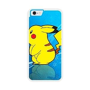 Pikachu Y0Z1UY7O Caso funda iPhone 6 4.7 pulgadas del teléfono celular blanco