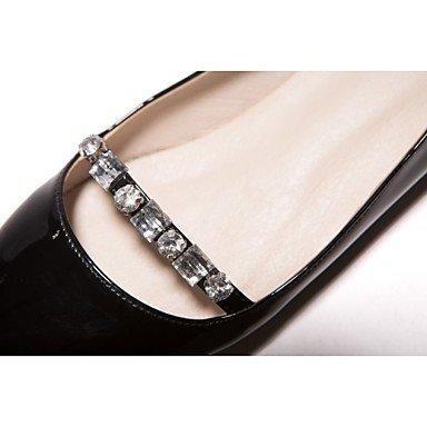 Cómodo y elegante soporte de zapatos de zapatos de mujer charol talón plano punta Toe Flats boda/fiesta y tarde/Casual negro/rojo/almendra Almond