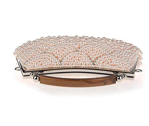 Bags Evening New Bridal Handbags Dress Beads Bags Fashion Bags Bags Bag Party Clutch Pink WenL Bridesmaids gPzUq8nz