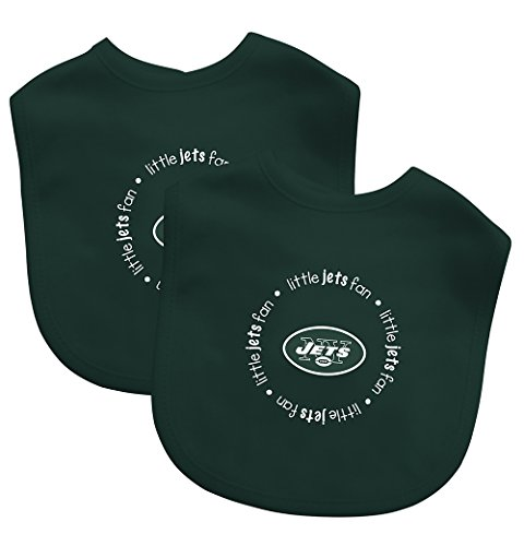 Baby Fanatic Team Color Bibs, New York Jets, 2-Count (Discontinued by Manufacturer)