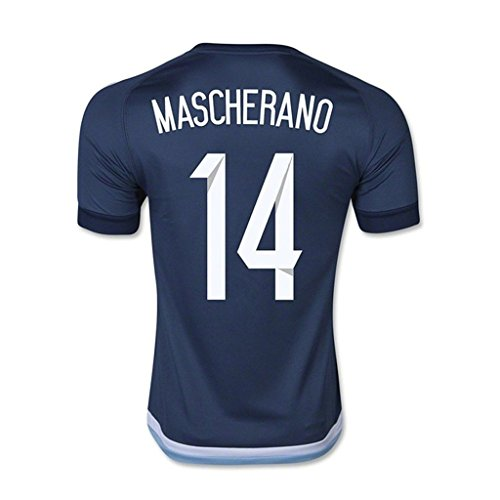 USNC8K 2016 Copa America Centenario Argentina 14 Javier Mascherano National Team Away Football Soccer Jersey In Royal Blue