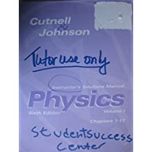 Physics, Chapters 1-17, Instructor's Solutions Manual