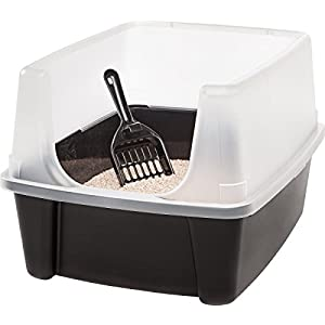 """Clean Pet Cat Kitty Open Top Large Cats Litter Box with Shield and Scoop New! by """"IRIS USA, Inc."""" 78"""