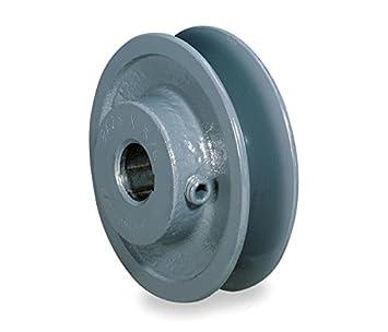 """AK20X5//8 Steel V-Belt Pulley 2.0/"""" x 5//8/"""" 4L A Belt 2 Set Screws NOS"""