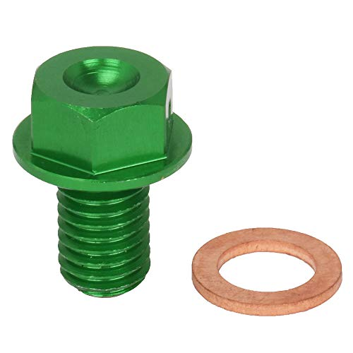 Magnetic Oil Drain Plug Bolts Screw fit for Kawasaki KX65/85/100/125/250/500 KX250F 04-17 KX450F 16-17 KLX250/D-TRACKER 98-16 off road bike (Screw Magnetic Drain)