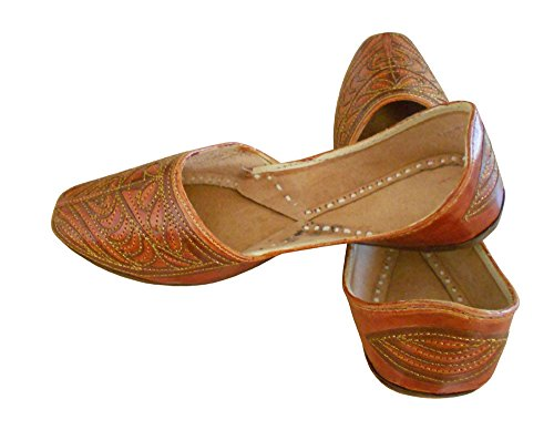 Kalra Creations Mojari Casual Indian Men Shoes Handmade Leather Jooti Loafers & Slip ONS UK 7.5 OHPOerwk